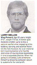 rugby article blurb on Larry